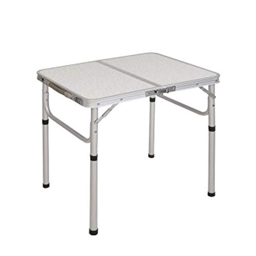 Camping Table Folding Table Fold Outdoor Travel Table Portable Simple Table Aluminum Alloy Picnic Table 60x40x26/50cm (Color : #1, Size : 60X40CM)