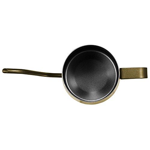 Kslongコーヒーポットコーヒーケトルステンレス細口ハンドパンチポットドリップih対応長い口ポットファイン口ポットグースネックポット(ゴールド,250ml)