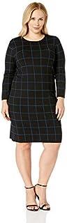 Anne Klein womens PLUS LONG SLEEVE SWEATER DRESS Dress