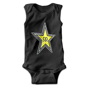 VBecerra Rockstar Energy Drink Boy Girl Baby Onesies Short Sleeve Jersey Bodysuit Jumpsuit Cotton T Shirt 0-24 Months Black 0-3 Months