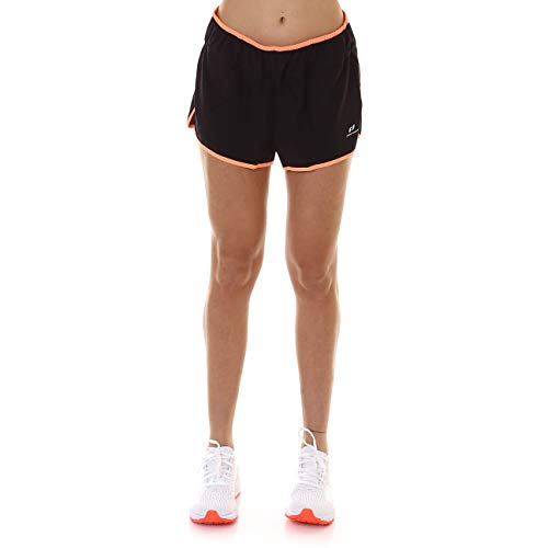 Pro Touch Isa II Shorts Femme, Black/Neon Peach, FR : M (Taille Fabricant : 38)