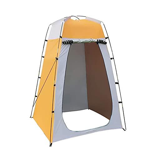 LUBINGMY Tienda Portabele Privacidad Ducha Tienda, Simple y fácil de Instalar Carpa, vestidor extraíble Cambio para al Aire Libre Playa Camping (Color : Yellow)