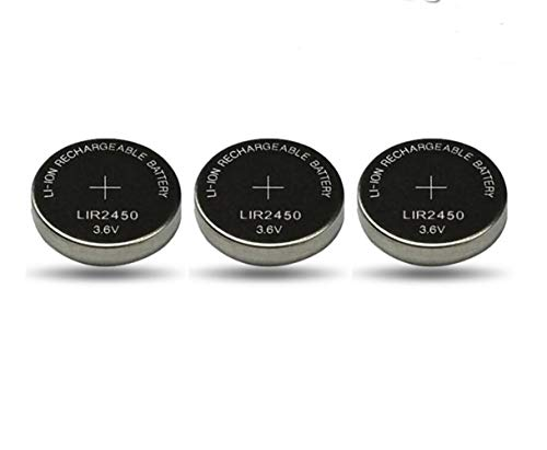 NO LOGO 3pcs 3.6V LIR2450 LIR2450 batería Recargable de Litio CR2450 for el Control Remoto Reloj Juguete Placa Base del Ordenador Pila de botón (tamaño : 3.6V)
