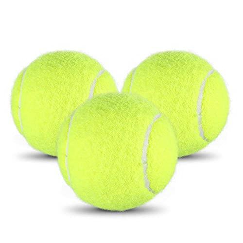 Palline da Tennis 3 pezzi, Set di Palle da tennis Adatto per il gioco Competizione di Tennis, Allenamento di Tennis, Addestramento Dell'animale Domestico