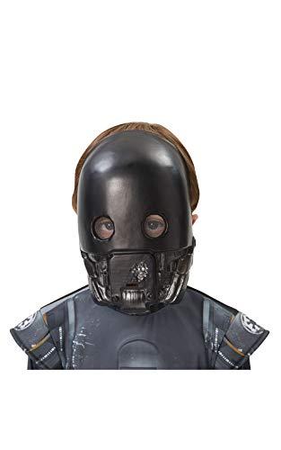 Star Wars – Mascara k-2so, Couleur Noir (Rubies Spain 33697)