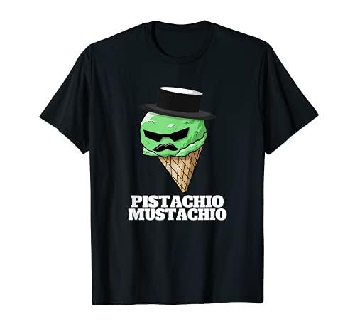 Bigote de pistacho para helado de bigote divertido de pistacho Camiseta