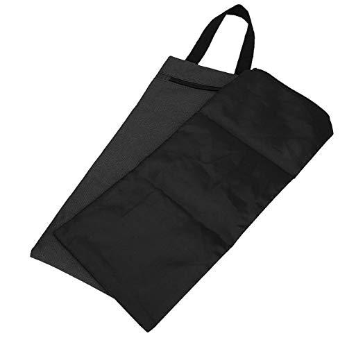 Demeras Yoga Sandbag 2Pcs 41x18cm Yoga Sandbag Sin llenar Durable Bolsa de Arena Doble vacía con Cremallera y asa para Entrenamiento de Yoga(Negro)
