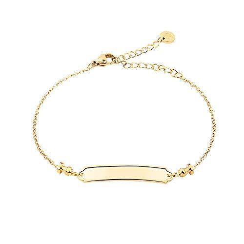 PAUL HEWITT Armkette Damen Gold Pier - Edelstahl Armband Damen (vergoldet) mit Damen Schmuck Anhänger in Gold aus Edelstahl