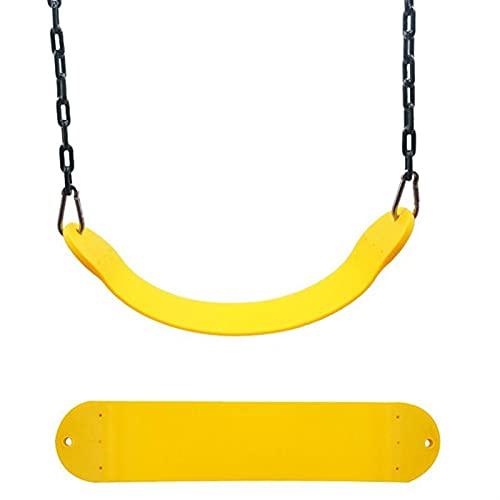 Columpios Asiento de Swing de Servicio Pesado 30 0kg / 661lb Límite de Peso for Exteriores. (Color : Yellow)