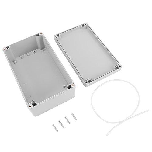 Caja de armario eléctrico IP65, Caja de conexiones eléctrica de plástico ABS, Caja de instrumentos de caja de proyecto exterior (200 * 120 * 75mm)