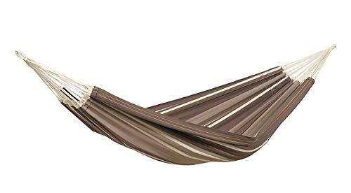 AMAZONAS XXL Comfort hangmat Paradiso Cafe handgemaakt in Brazilië 250cm x 175cm tot 200kg in donkerbruin