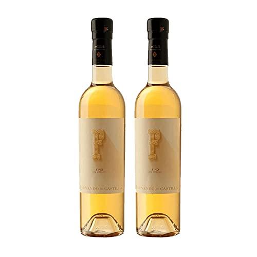 Vino Antique Fino de 50 cl - D.O. Jerez-Sherry - Bodegas Fernando de Castilla (Pack de 2 botellas)