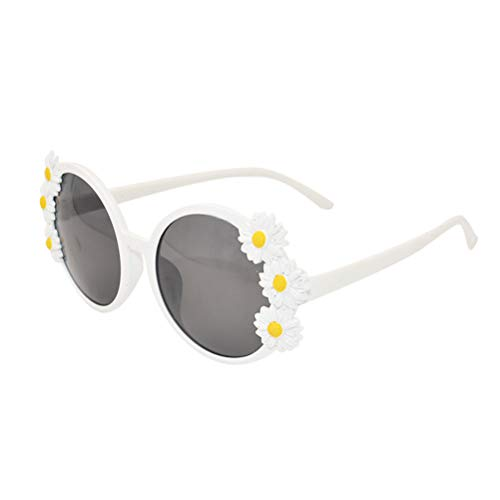 Amosfun Neuheit Party Sonnenbrille kreative lustige Brille Hawaiian tropischen Sonnenbrille Gänseblümchen Blumen Dekoration Sonnenbrille