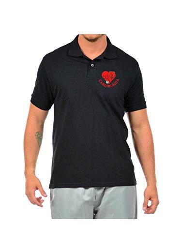 Camisa Polo Masculina Logo Simbolo Cardiologia Bordado