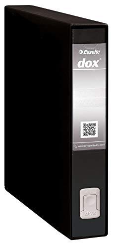 Esselte Dox 5 - Archivador de palanca F.to Protocol, lomo 5 cm, 5,9 x 35,2 x 28,8 cm, negro, 1 unidad