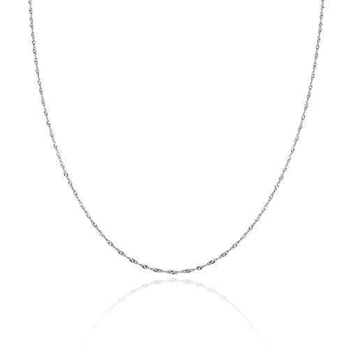 Silberkette Damen 925 ohne Anhänger I Feine Kette Silber für Frauen I Echt Silberne Halskette in verschiedenen Längen