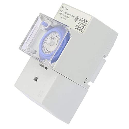 NiceButy Temporizador programable Interruptor mecánico 24 Horas Controlador SUL181h de energía 110-230VAC para Carril DIN práctica