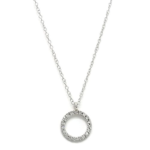 Never Say Never Collar de Diamantes 0.06cts círculo de Oro Blanco de 18Ktes.40cm
