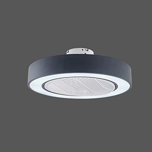 Lámpara de ventilador minimalista moderna con luz de tres tonos, macarons de hierro forjado, sala de estar, comedor, dormitorio, lámpara, lámpara de techo