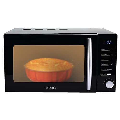 Croma 20 Litres Convection Microwave Oven With 200 Auto-Cook Menus (CRAM0193, Black)