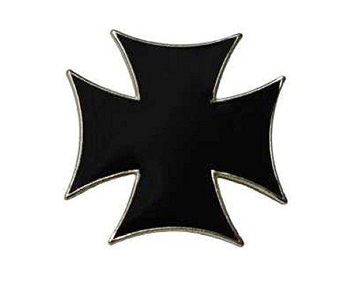 Pin de cruz de hierro con forma de cruz, de hierro, para chaleco de motero, de metal