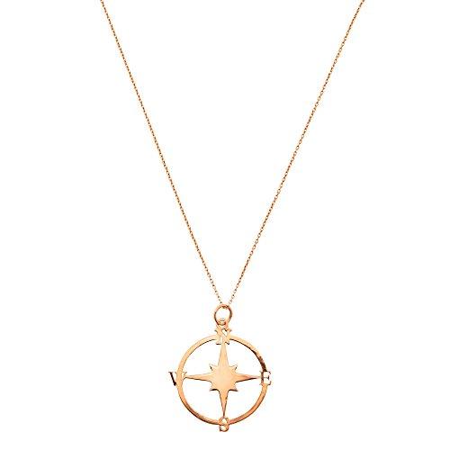 Córdoba Jewels | Gargantilla en Plata de Ley 925 bañada en Oro Rosa con diseño Rosa de los Vientos Rose Gold