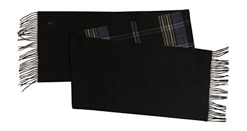 Dames Viyella Ultieme Luxe Wol Cashmere Sjaal/Wrap Sjaal Tartan 058 Navy