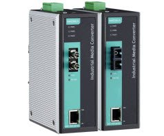 MOXA IMC-101-M-ST-T 10/100BaseT(X) to 100BaseFX, Multi Mode ST, Smart Relay Output Alarm, Link-Fault-Pass-Through, w/ -40~75 C