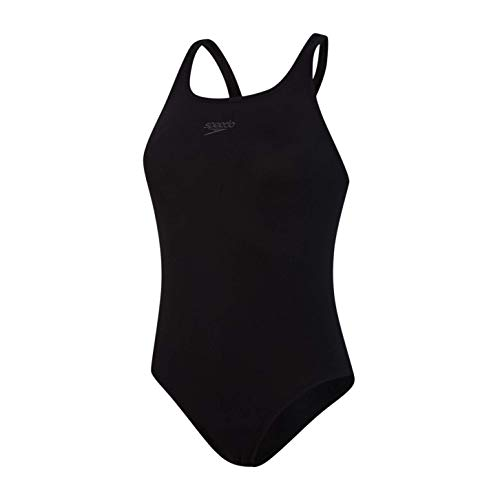 Speedo Endurance + Estampado Medalist Bañador, Adult Female, Negra, 34 (ES 40)