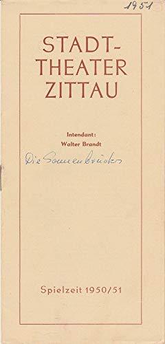 Programmheft Leon Kruczkowski DIE SONNENBRUCKS Spielzeit 1950 / 51