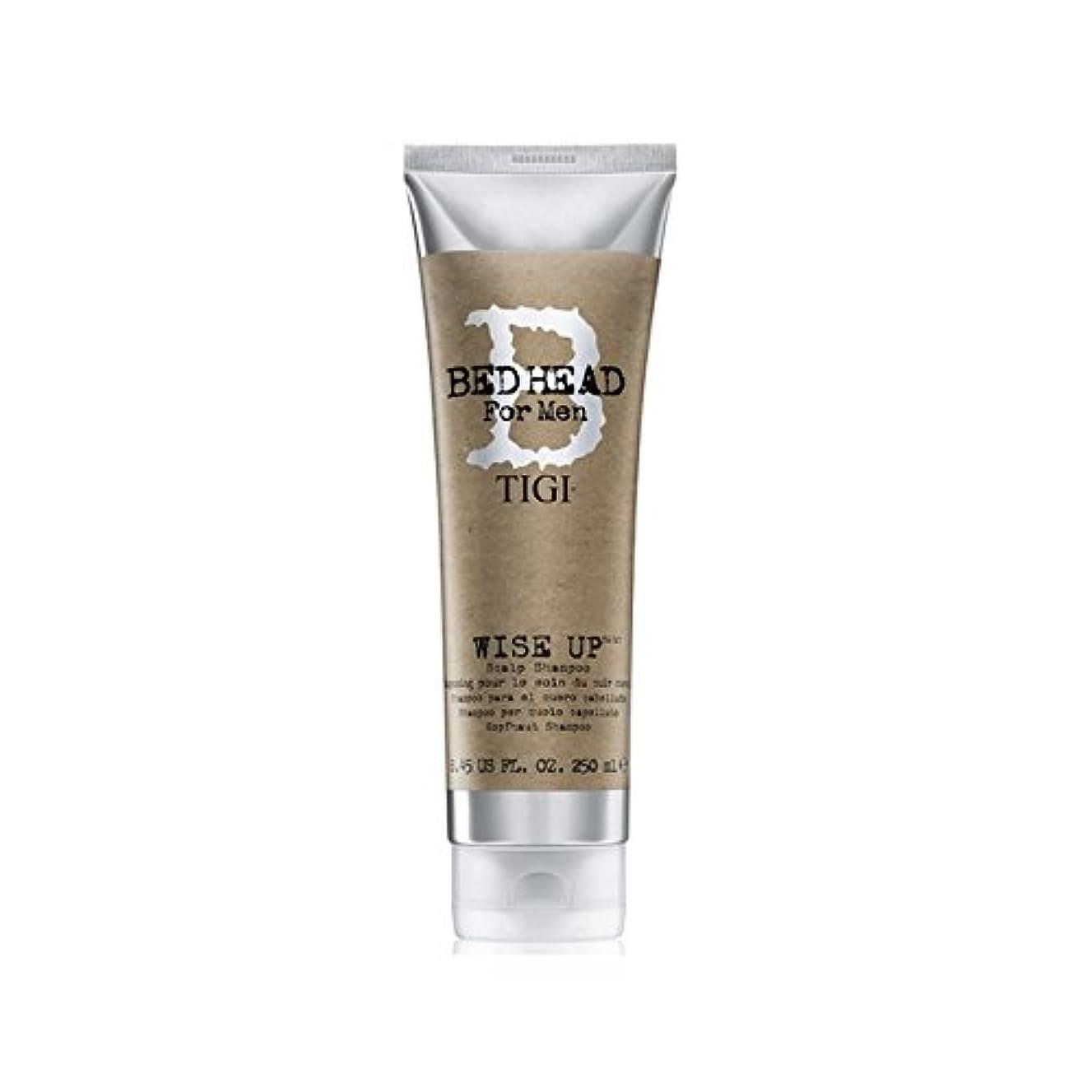 わがままく剥離賢明な頭皮シャンプー(250ミリリットル)までの男性のためのティジーベッドヘッド x2 - Tigi Bed Head For Men Wise Up Scalp Shampoo (250ml) (Pack of 2) [並行輸入品]