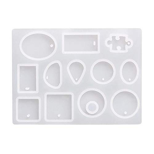 Resin Casting Mold Kits - Silicone Mold Making - Jewelry Pendant Mould, Easy to Use and Clean of the Silicone Material, for Resin Dry Flower and Jewelry Necklace Making Tools DIY Crafts (clear)