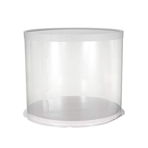 UPKOCH Kuchenbehälter rund mit Haube Kuchentransportbox Deko Kuchenbox mit Deckel Tortenplatte für Shophaus (Einfach zu montieren-Müssen zusammenbauen)