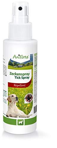 AniForte Zeckenspray für Hunde 100ml - Zeckenschutz gegen Zecken, Flöhe, Milben & Parasiten, Anti Zecken Spray, Zeckenmittel, Öle zum Insektenschutz, Insektenspray mit Geraniol