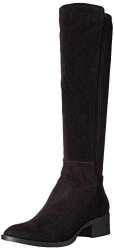 Kenneth Cole New York Women's Levon Knee High Boot, Black Leather, 6 M US