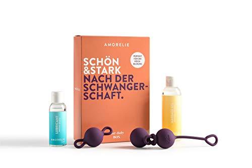 Amorelie Beckenbodentrainer Set 3x36g Liebeskugeln Kombinierbar Gleitgel Massageöl