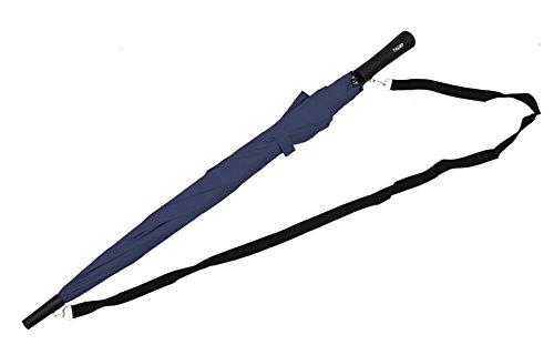 Umhänge Regenschirm Stockschirm Langschirm Hit Burgund Automatik Schulterschirm blau