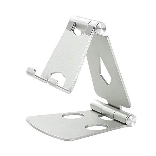 MOVKZACV Soporte de teléfono plegable, soporte de escritorio ajustable de 270 grados, compatible con todos los teléfonos de 4 a 9.7 pulgadas, soporte de escritorio de aluminio completo