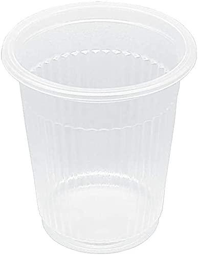 TELEVASO - 1000 uds - Vasos de color transparente, de polipropileno (PP) - Capacidad de 100 ml - reciclables - Ideal para bebidas frías como agua, refresco, zumos, té helado