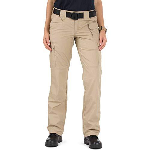 5.11 Women's Taclite Pro Tactical 7 Pocket Cargo Pant, Style 64360, TDU Khaki, 12 Long