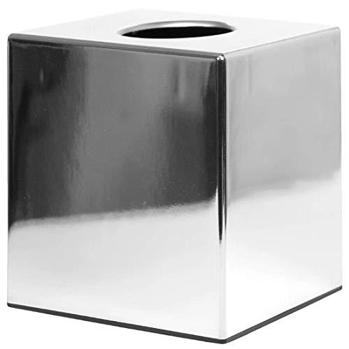 Cromado en forma de cubo de pañuelos titulares de tejidos–120x 130cm