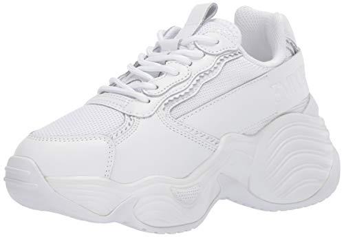 Emporio Armani Damen Thick Sole Sneaker Turnschuh, Weiß/Mehrfarbig, 39 EU