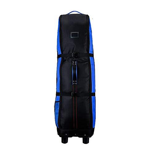 Yamyannie-Bag Golf Travel Cover Golf Reisetaschen for Airlines mit Rädern (Farbe : Blau, Größe : 141X38.5x31.5cm)