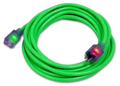 CENTURY WIRE & CABLE ELC0008 25' 14/3 Green extension cord