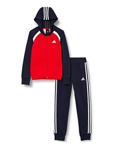 adidas G Hood COT TS Tuta da Ginnastica, Scarlet/Air/White, 7-8A Unisex-Bambini