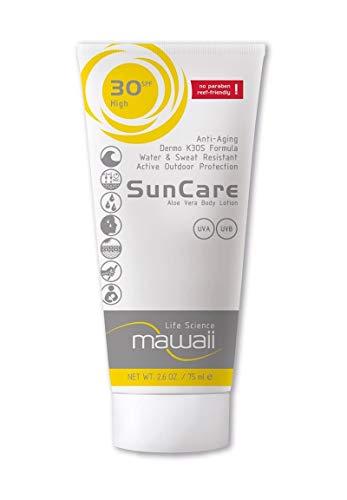 mawaii SunCare SPF 30 - wasserfeste und schweissresistente Sonnencreme, reef-friendly, ideal für Wassersport und Outdoor-Sport, Anti-Aging Sonnenschutz, Sonnenmilch ohne Parabene (1 x 75ml)