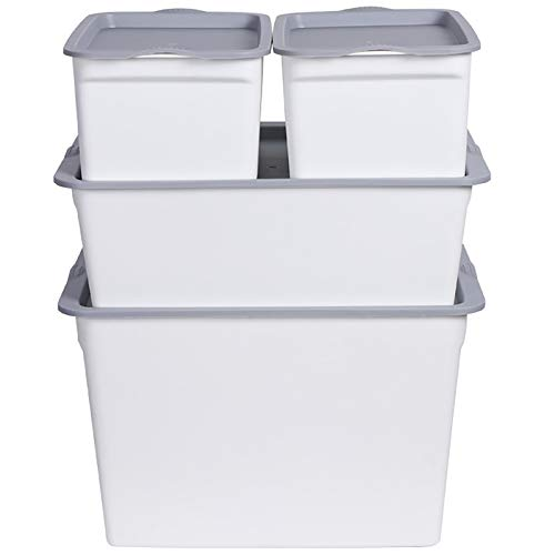 KCCCC Caja de Almacenamiento de Maquillaje Caja de Almacenamiento de Ropa Caja de Almacenamiento cosmética de Juguete Caja de Almacenamiento de plástico Engrosado (Conjunto de 4 Piezas) para Dresser