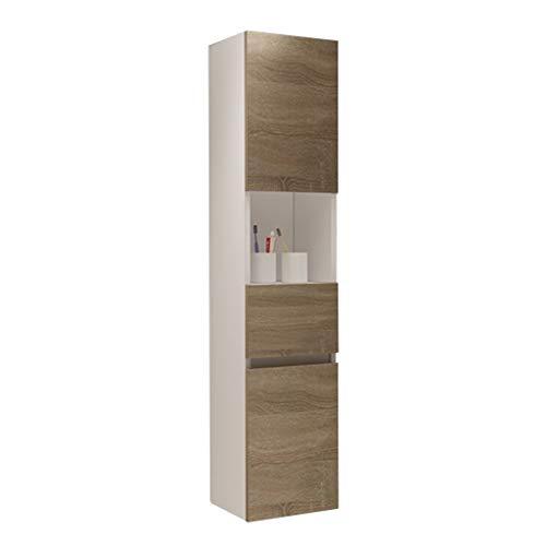 Wandschrank Hushåll multifunktionsskåp badrum sidoskåp vardagsrum hörnskåp (färg: Vit, storlek: 30 x 27 x 140 cm)