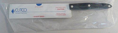 "CUTCO Model 1729 Petite Carver in factory-sealed plastic bag. 6¾"" Double-D serrated blade; 5½"" Classic Dark Brown handle (often called 'Black')."