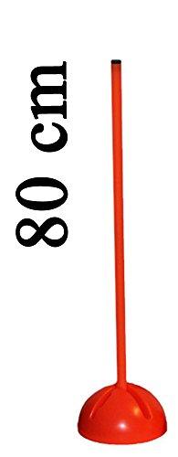 Agility Sport pour Chiens - Socle Multi-Fonctions remplissable avec Jalon - Longueur 80 cm, Ø 25 mm - Couleur: Orange - 1x xs80o